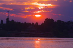Sunset in Nigeen lake-2 Stock Photography