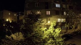 Sunset and night in the courtyard Yerevan, Armenia timelapse. Video stock video footage