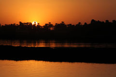 Sunset on the Nile Royalty Free Stock Photography