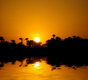 Sunset on Nile Royalty Free Stock Photos