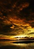 Sunset before nimbus Stock Photo