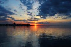 Sunset from Nizhniy Novgorod, Russia Royalty Free Stock Photo