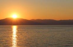 Sunset in Njivice, Croatia Stock Photos