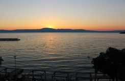 Sunset in Njivice, Croatia Royalty Free Stock Images