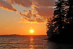 Sunset in the North Woods Royalty Free Stock Images