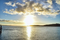 Sunset Northcote Auckland New Zealand Stock Photography