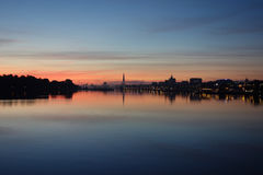 Sunset in Northern Germany. Sunset in the hanseatic city of Northern Germany, Rostock Royalty Free Stock Photography