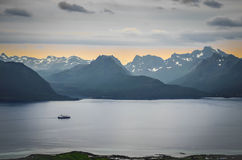 Sunset in Northern Norway Royalty Free Stock Photo
