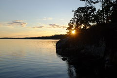 Sunset in Northern Ontario Stock Photography