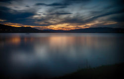 Sunset in norway tourism travel Royalty Free Stock Images