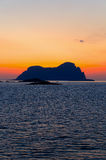 Sunset at norwegian fiords Stock Photos