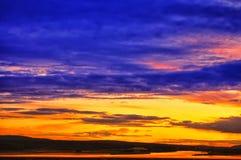 Sunset in Norwegian fjords. Stock Images