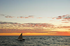 Sunset in nosy be Royalty Free Stock Photo