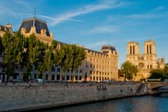 Sunset on Notre Dame, Paris Stock Photography