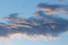 Sunset in November -  Clouds - Italy Royalty Free Stock Images