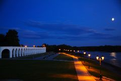 Sunset on Novgorod Royalty Free Stock Photo