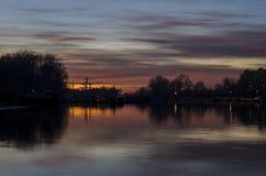 Sunset in Novi Sad Royalty Free Stock Photos