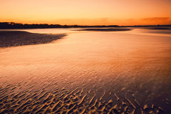 Sunset. At Nudgee Beach, QLD Royalty Free Stock Photos