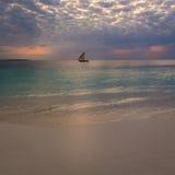 Sunset Nungwi Stock Photo