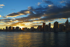 Sunset in NYC. Royalty Free Stock Photos