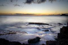 Sunset in Oahu Stock Images
