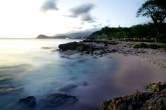 Sunset in Oahu Royalty Free Stock Photography
