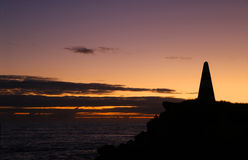 Sunset at the Obelisk Royalty Free Stock Images