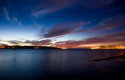 Sunset at Obidos Lagoon Stock Photography