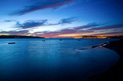 Sunset at Obidos Lagoon Stock Image