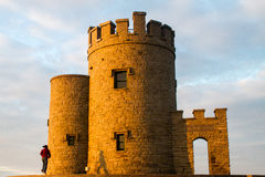 Sunset at the OBriens Tower Ireland Stock Photo