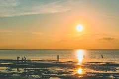 Sunset and Ocean royalty free stock image