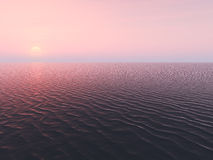 Sunset on ocean royalty free stock photo