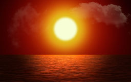 Sunset with ocean Royalty Free Stock Photos