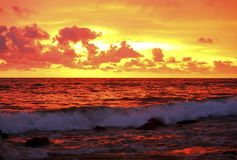 Sunset On The Ocean Royalty Free Stock Photography