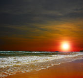 Sunset on the Ocean Royalty Free Stock Images
