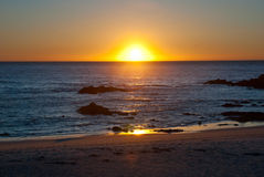 Sunset at ocean Royalty Free Stock Photo