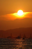 Sunset in ocean Stock Image