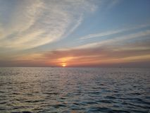Sunset. On the ocean Royalty Free Stock Photography