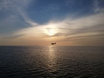 Sunset. On the ocean Royalty Free Stock Images