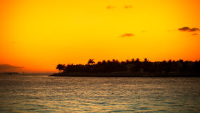 Sunset on the ocean, abstract environmental backgrounds Royalty Free Stock Photography