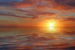 Sunset Ocean Background Royalty Free Stock Images