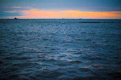 Sunset ocean background 3 Stock Images