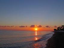 Sunset in ocean Bali Royalty Free Stock Image