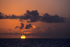 Sunset on ocean - Bayahibe - Dominican republic Royalty Free Stock Photos