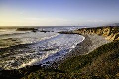 Sunset on the ocean beach Stock Photo
