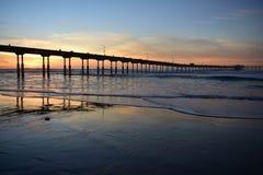 Sunset at Ocean Beach Stock Photography