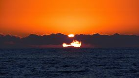 Sunset In The Ocean stock photography