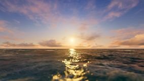 Sunset at the Ocean stock footage