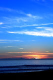 Sunset Ocean Blue Stock Photography