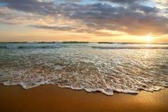 Sunset in the ocean Stock Photos